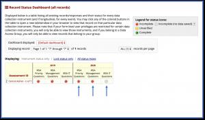 Screenshot showing IRSA survey form access menu.