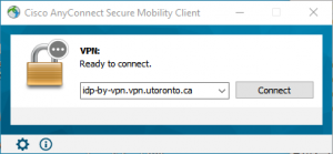 UAT VPN AnyConnect Connection Dialog
